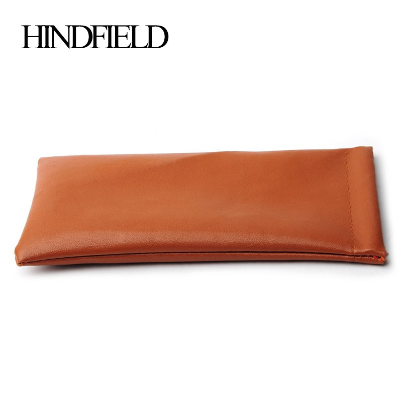 HINDFIELD 10Pcs/Lot PU Waterproof Glasses Case Soft Eyeglasses Pouch Sunglasses bag Brown Color KCPU01