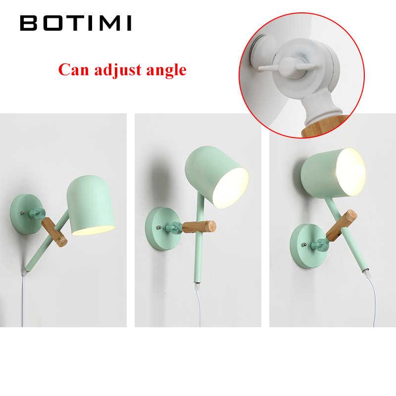 BOTIMI Новое поступление светодиодный настенный светильник для гостиной дизайнерский Настенный бра для чтения красочный Регулируемый прикроватный светильник