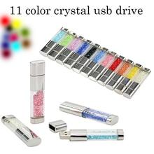 Best gift Pen drive Natural Diamond 4GB 8GB 16GB 32GB 64GB Usb Flash Drive Crystal Flash disk Memory Card Pendrive Free Shipping