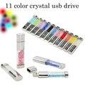Mejor Pen drive regalo Natural Diamond 4 GB 8 GB 16 GB 32 GB 64 GB Cristal Unidad Flash Usb disco Flash Tarjeta De Memoria Pendrive Envío Gratis