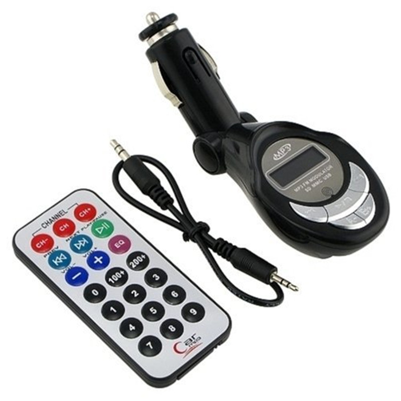Car styling Car FM transmitter MP3 Player 3 in 1 SD/MMC/USB/MP3 Wireless interface audio 1 Din Modulator car Kit with Remote