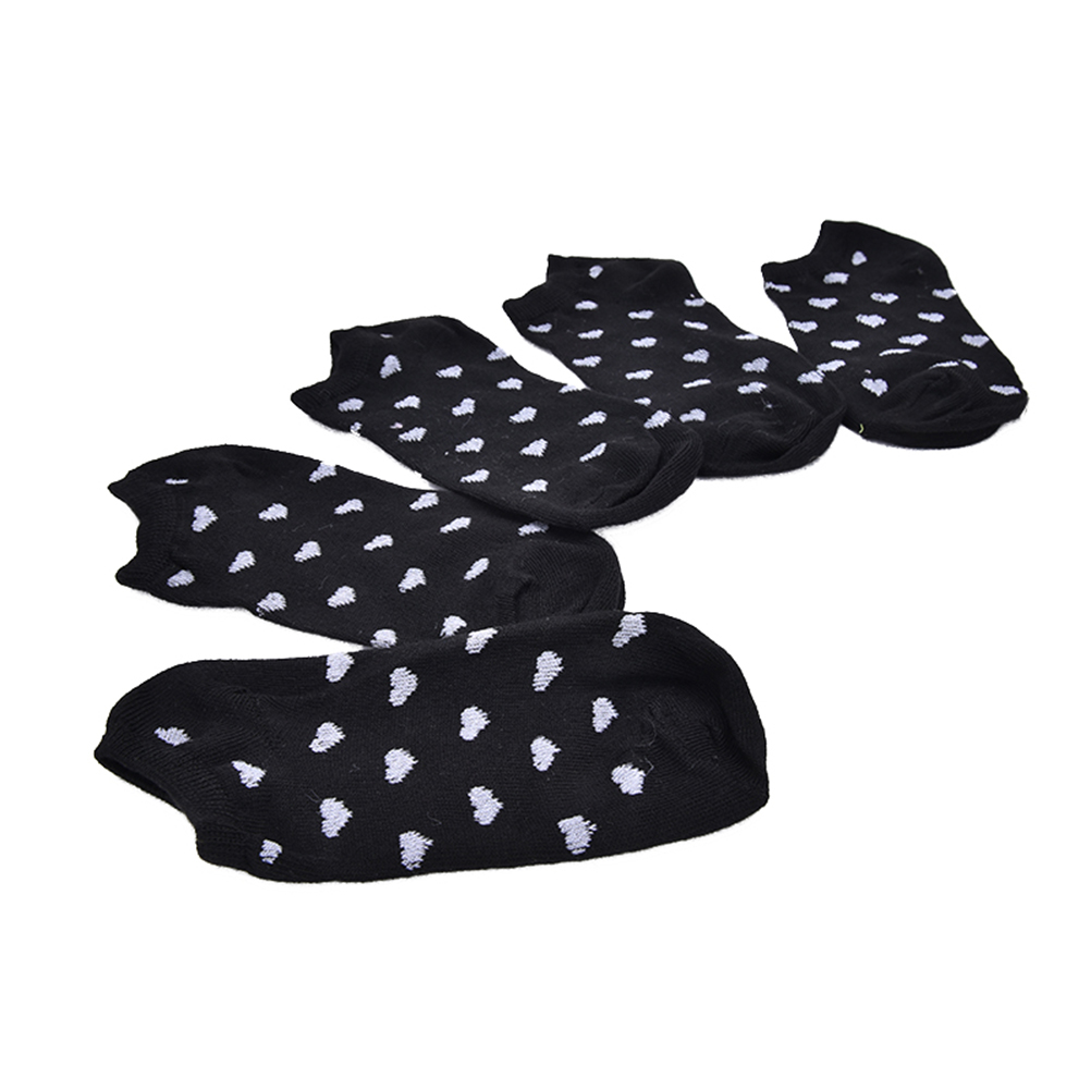 HTB1r7gZOpXXXXbAaXXXq6xXFXXXt - 5 Pairs Heart Dot Solid Girl Female Lady Socks For Women's Socks