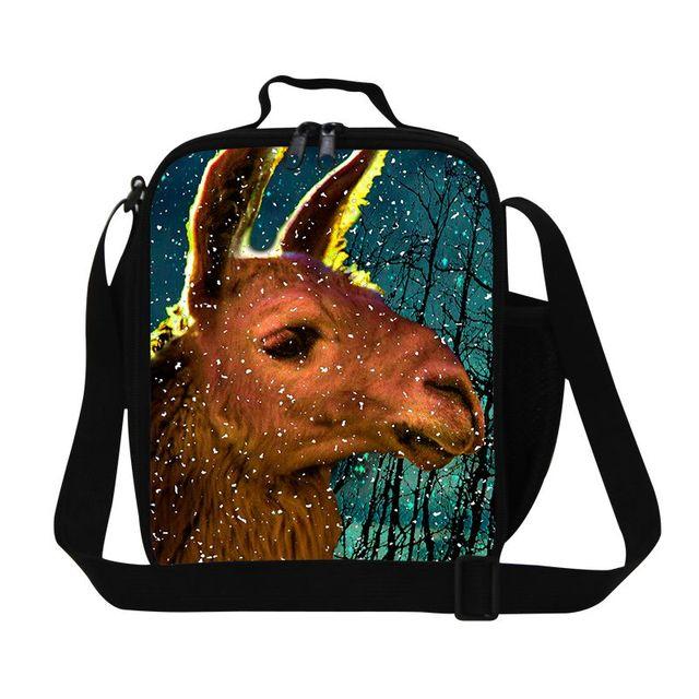 Dispalang симпатичные альпака печати обед сумки для детей изолированные обед коробка сумка небольшая сумка для пикника школьного питания пакет