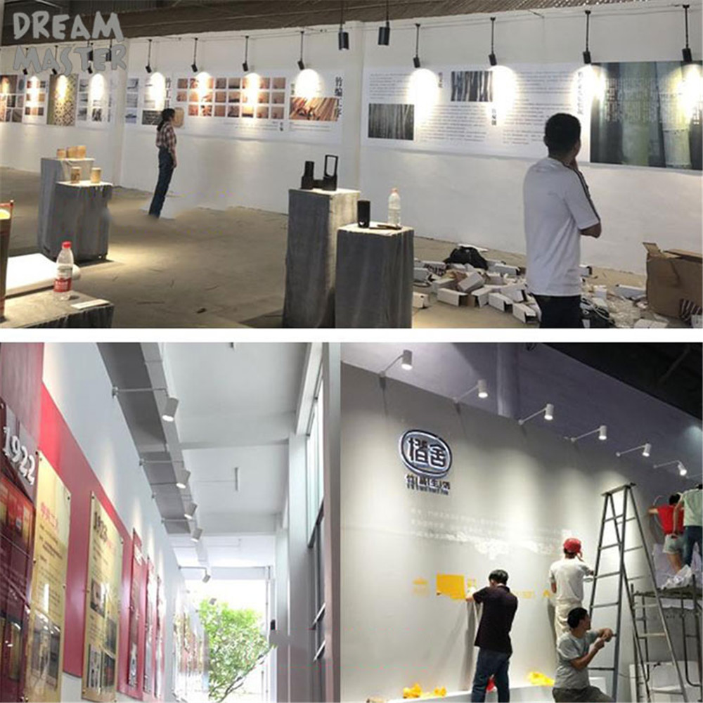 Image 5 - Industrial art Wall spotlights long pole led wall lights for gallery museum picture lighting flexible arm exhibition photo lamp-in LED Indoor Wall Lamps from Lights & Lighting