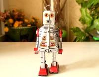 Retro clockwork tin toys rare Clockwork tin robot MS386 Collection