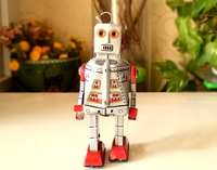 Retro Clockwork Tin Toys Rare Clockwork Tin Robot MS386 Collection