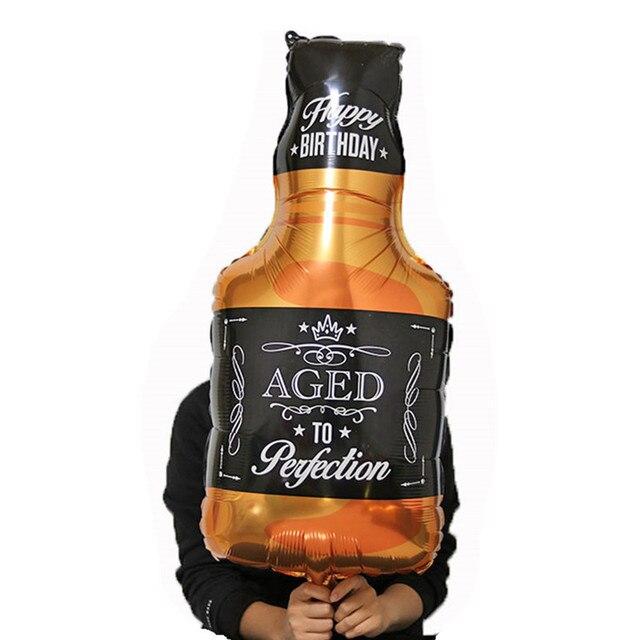 1pcs 91 46cm Wine Whiskey Bottle Balloon 30 Years Old Happy Birthday