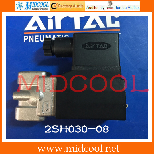 Original AirTAC Fluid control valve (2/2way) 2S Series (Direct-acting and normally closed) 2SH030-08