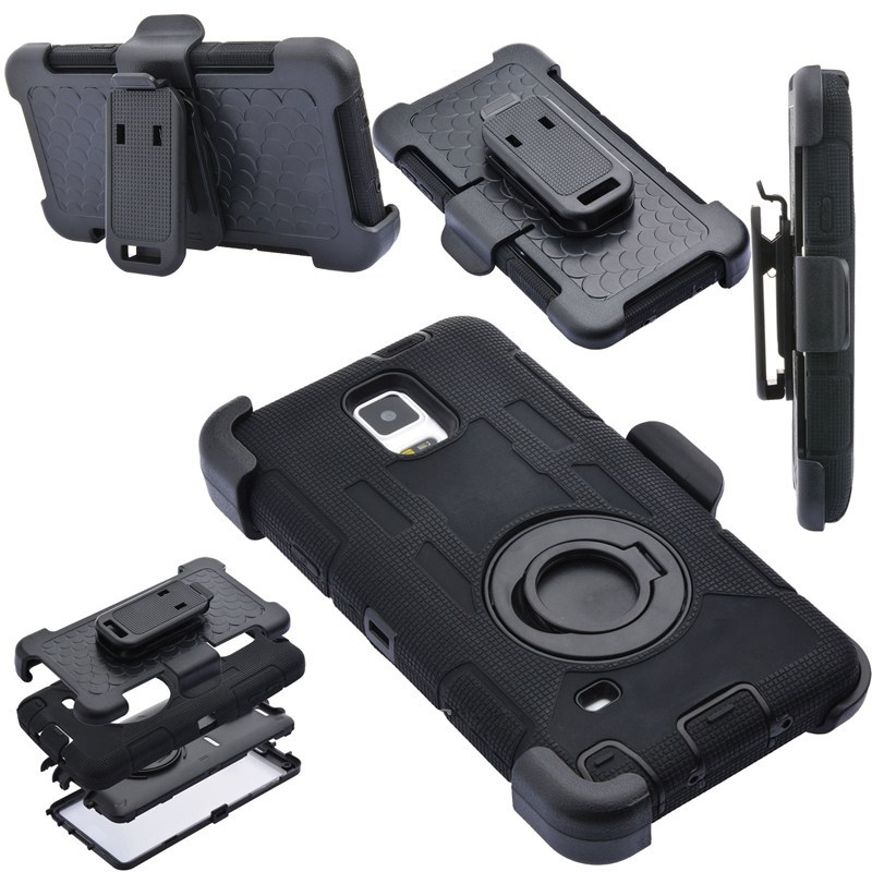 hot sale online 10abf 36e80 US $9.89 |S6 S7 Edge Note 4 Note 8 Case 4 in 1 Rugged Armor Military+Belt  Clip Holder Shockproof Back Case For Samsung Galaxy S8 Plus Case-in Fitted  ...