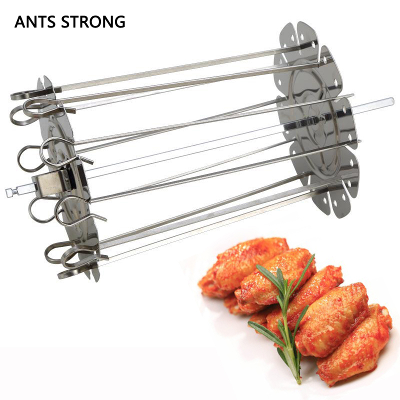 ANTS STRONG oven air fryer barbecue fork/Rotate skewers electric oven accessories meat BBQ skewer cage