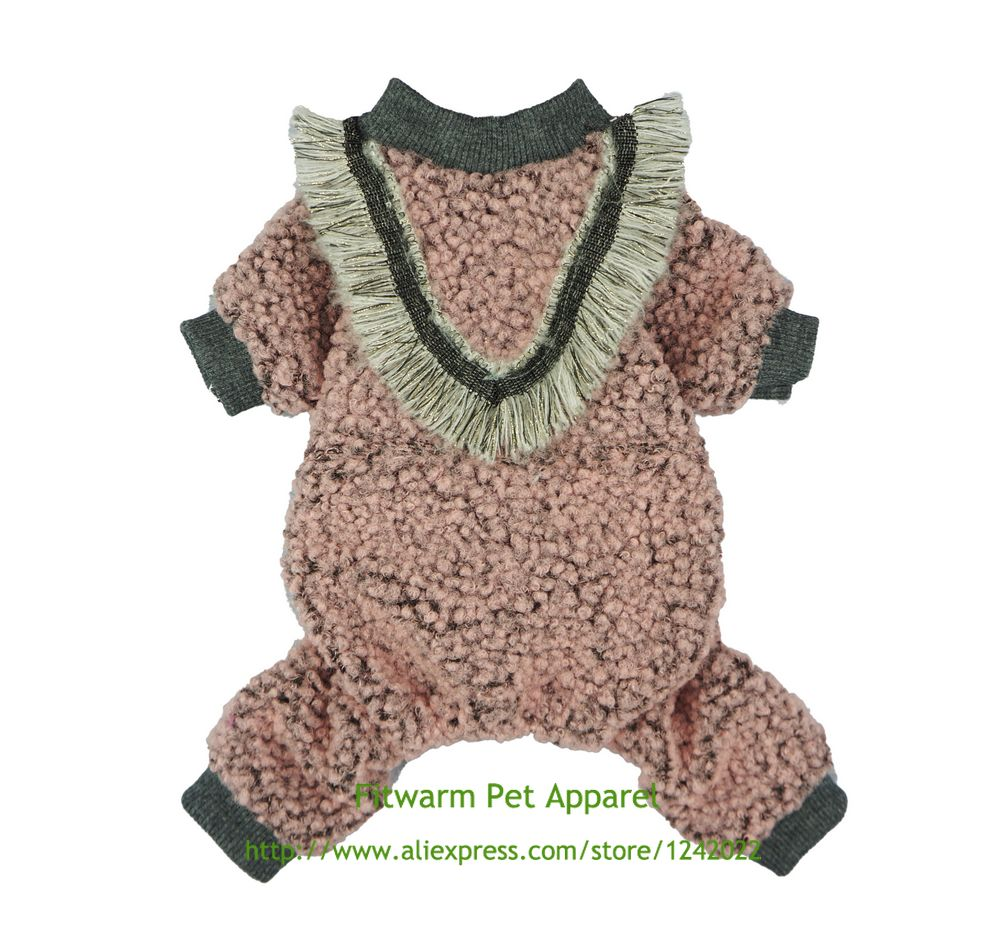 Pink, Fitwarm Sweetie Donuts Pet Clothes for Dog Pajamas Soft Cotton Shirts PJS