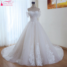 TANYA BRIDAL Light Champagne Wedding Dresses Sweep Train