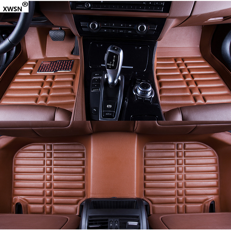 XWSN Custom car floor mats for suzuki grand vitara sx4 2007-2017 jimny swift ignis wagon r Car waterproof floor mats waterproof rubber hk right hand steering wheel car floor mats for volkswagengolf 5 6 scirocco with gti tsi r r golf logo