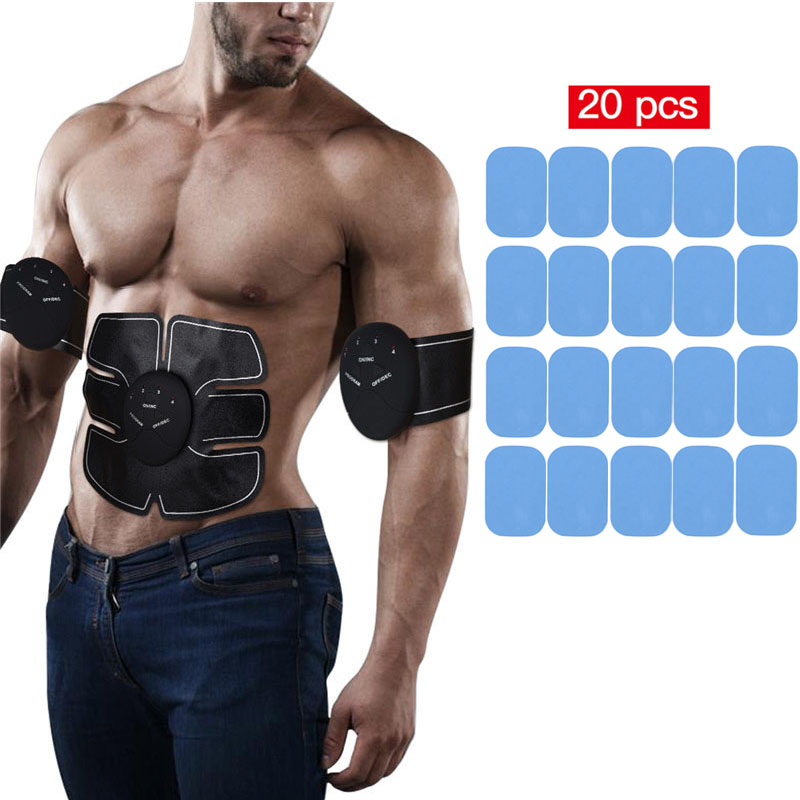 EMS Abdominal ABS Trainer Weight Loss Hip Muscle Stimulator Exerciser Body Massager+20Pcs Gel Pad Replacement Massager Gel PatchEMS Abdominal ABS Trainer Weight Loss Hip Muscle Stimulator Exerciser Body Massager+20Pcs Gel Pad Replacement Massager Gel Patch