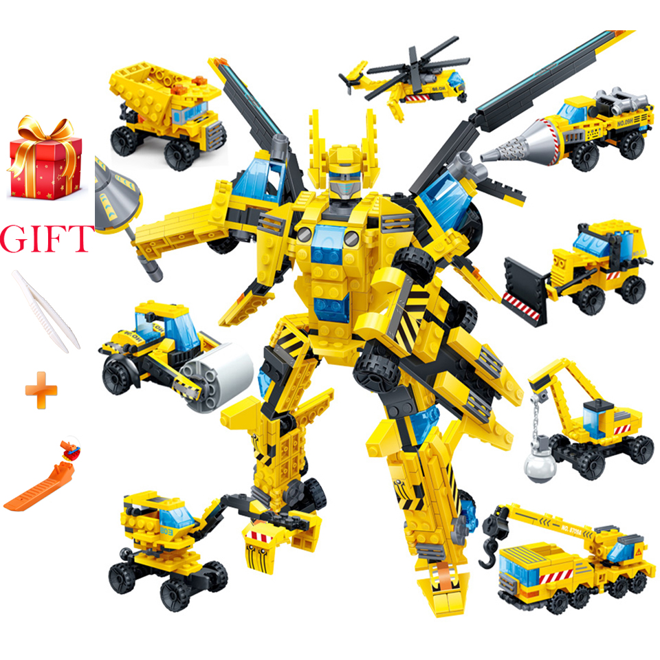 GUDI 643PCS LegoINgs Building Blocks 8 in 1 Thunder God of War Starwars Creator Children's Educational Toys Holiday Gift