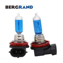 2PCS 12V 55W 5000K Super Bright White H11 Halogen Lamps PGJ19-2 Auto Lamp Dark Blue Glass Xenon Filled Car Fog Lights Bulb free shipping high quality halogen fog lights lamps for toyota corolla altis 2011 on 55w 12v h11