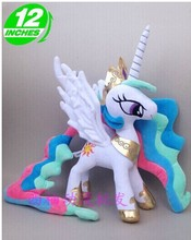 lovely plush dark white horse toy cute stuffed horse doll Princess Celestia toy doll gift toy about 32cm