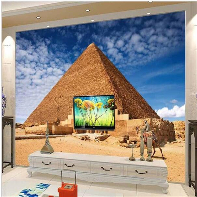 Beibehang Moderne Hintergrund Große Malerei Pyramiden ägypten Landschaft  Murales De Pared Tapete Hotel Mural Für Wohnzimmer