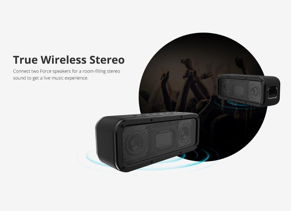 Tronsmart Element Force Bluetooth Speaker IPX7 Waterproof Portable Speaker 40W TWS Speakers 15H Playtime with Subwoofer,NFC 3