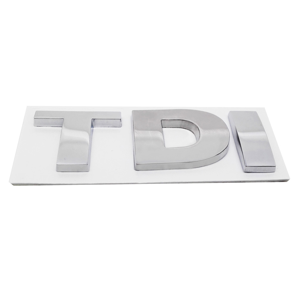 Car Rear <font><b>Sticker</b></font> Metal 3D TDI TSI Emblem Badge for <font><b>Volkswagen</b></font> <font><b>Passat</b></font> <font><b>b5</b></font> b6 Golf 4 5 7 Jetta Tiguan Scirocco Sagitar Beetle Vento image