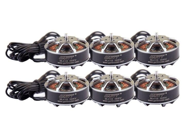 6PCS GARTT ML 4108 380KV Brushless Motor For Multi-rotor Quadcopter Hexacopter RC Drone 6pcs gartt ml 4108 500kv brushless motor for mult irotor quadcopter hexacopter rc drone