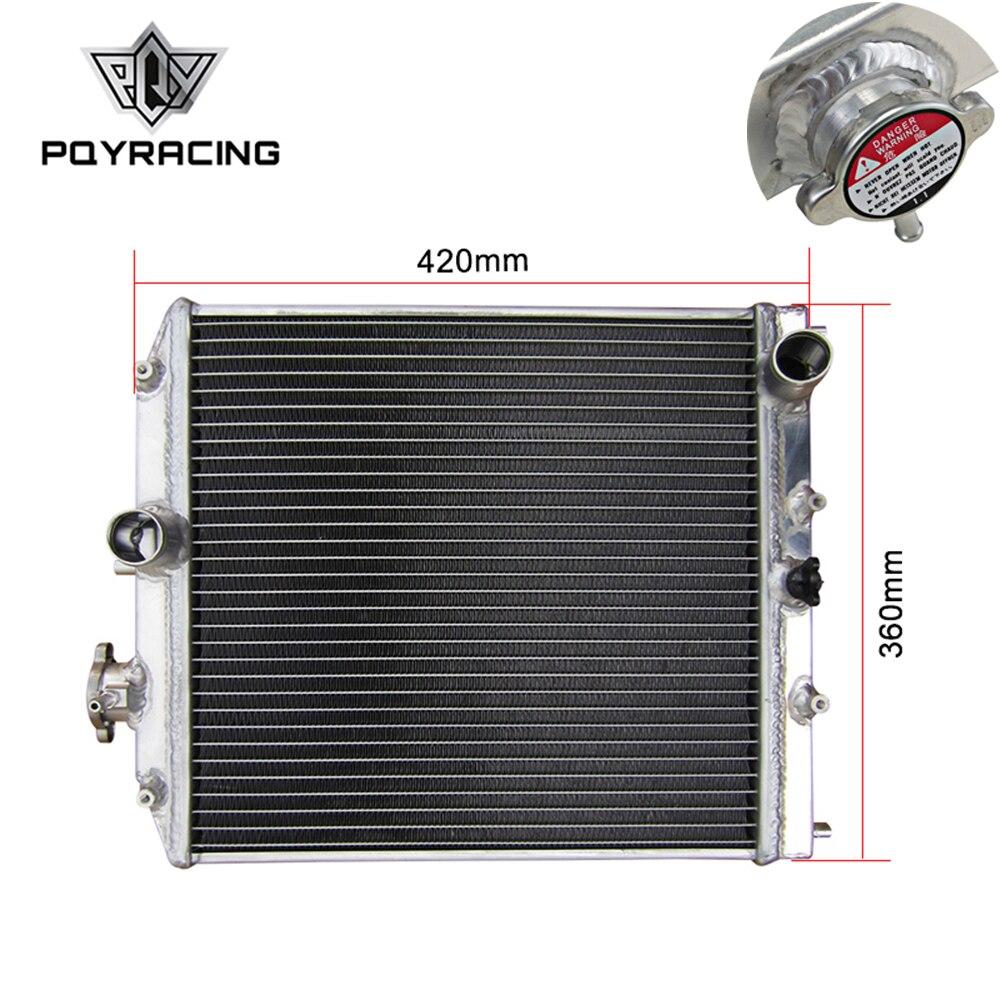 PQY - 2 Row 42MM Aluminum Car Auto Radiator For Honda Civic Del Sol 92-00 MT EG / EK PQY-SX103