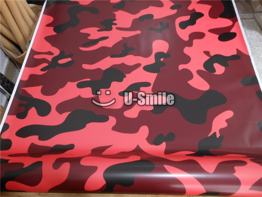 Elite Red Jumbo Camouflage Vinyl Wrap Film Red Camo Vinyl Roll Bubble Free For SUV TRUCK Jeep Wraps 30M/Roll jumbo camo sticker bomb vinyl wrap black grey white snow camouflage vinyl bubble free for suv truck jeep wraps 30m roll