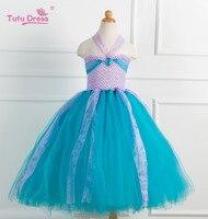 The Little Mermaid Kids Girls Dresses Princess Ariel Cosplay Halloween Costume Baby Girls Clothes
