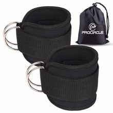 Fitness Resistance Bands Ankle Straps Neoprene Padded Ankle Cuffs For Cable Machines Leg Gym Workout