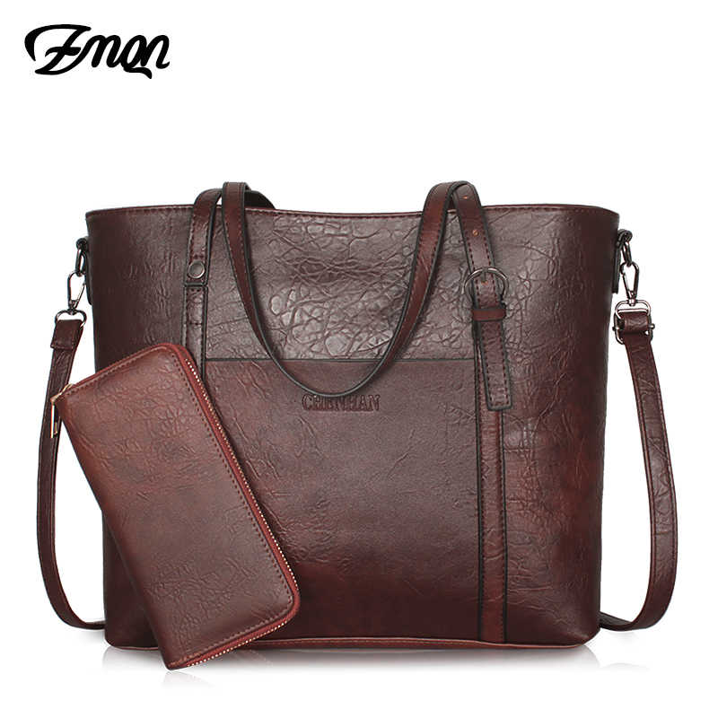 3d0f1ec9ab07 ZMQN Handbags Women s Leather Vintage Female Tote Crossbody Bags For Women  Big Capacity Purses and Handbag
