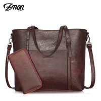 ZMQN Handbags Women's Leather Vintage Female Tote Crossbody Bags For Women Big Capacity Purses and Handbag Bolsas Femininas C664