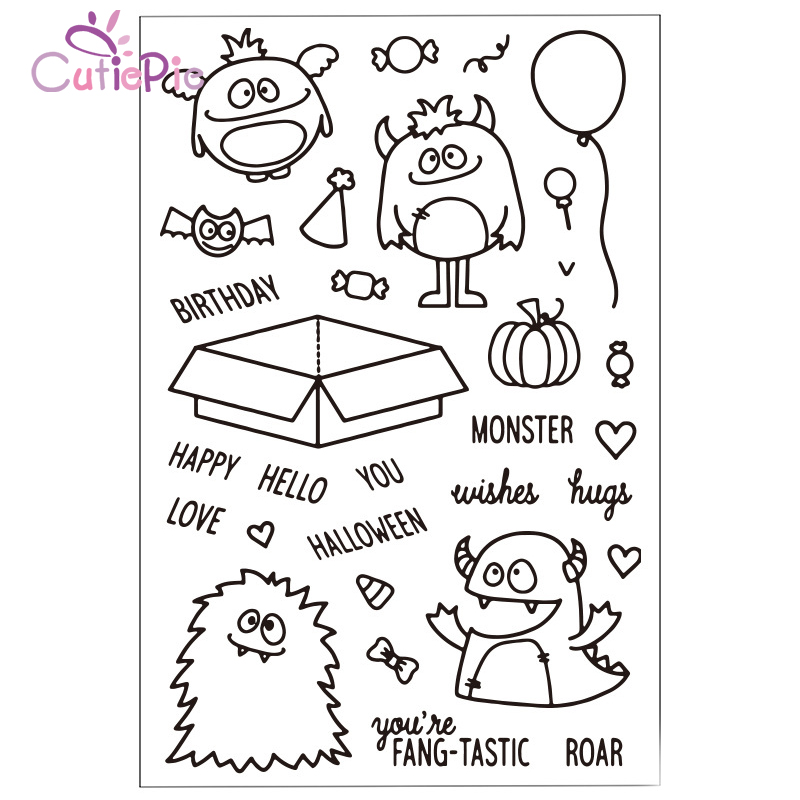 Hugs Monster Transparent Clear Stamps for Scrapbooking DIY Silicone Seals Photo Album Embossing Folder Paper Decorative Supplies