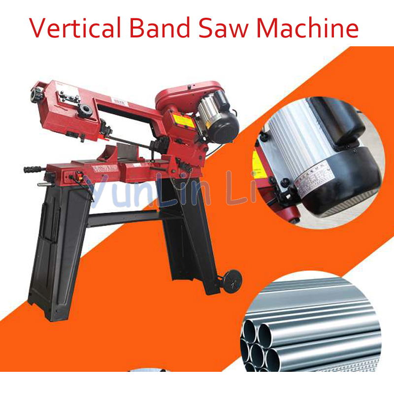 GFW5012 Vertical Band Saw Machine for Metal Woodworking Band Saw Machine Metal/ wood Band Sawing Machine Double Use 750W цена и фото