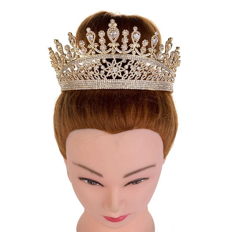 Hadiyana 2018 милые девушки капли Hairband CZ корона принцессы ободок тиара на день рождения короны для женщин аксессуары для волос HG6007 - 6
