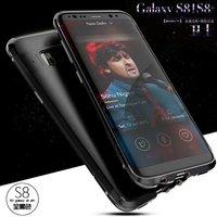 Pour Samsung Galaxy S8 cas D'origine Marque En Métal En Aluminium Cadre + PC Dur Armure Anti-frapper en Arrière Couverture Cas Pour Galaxy S8 Plus