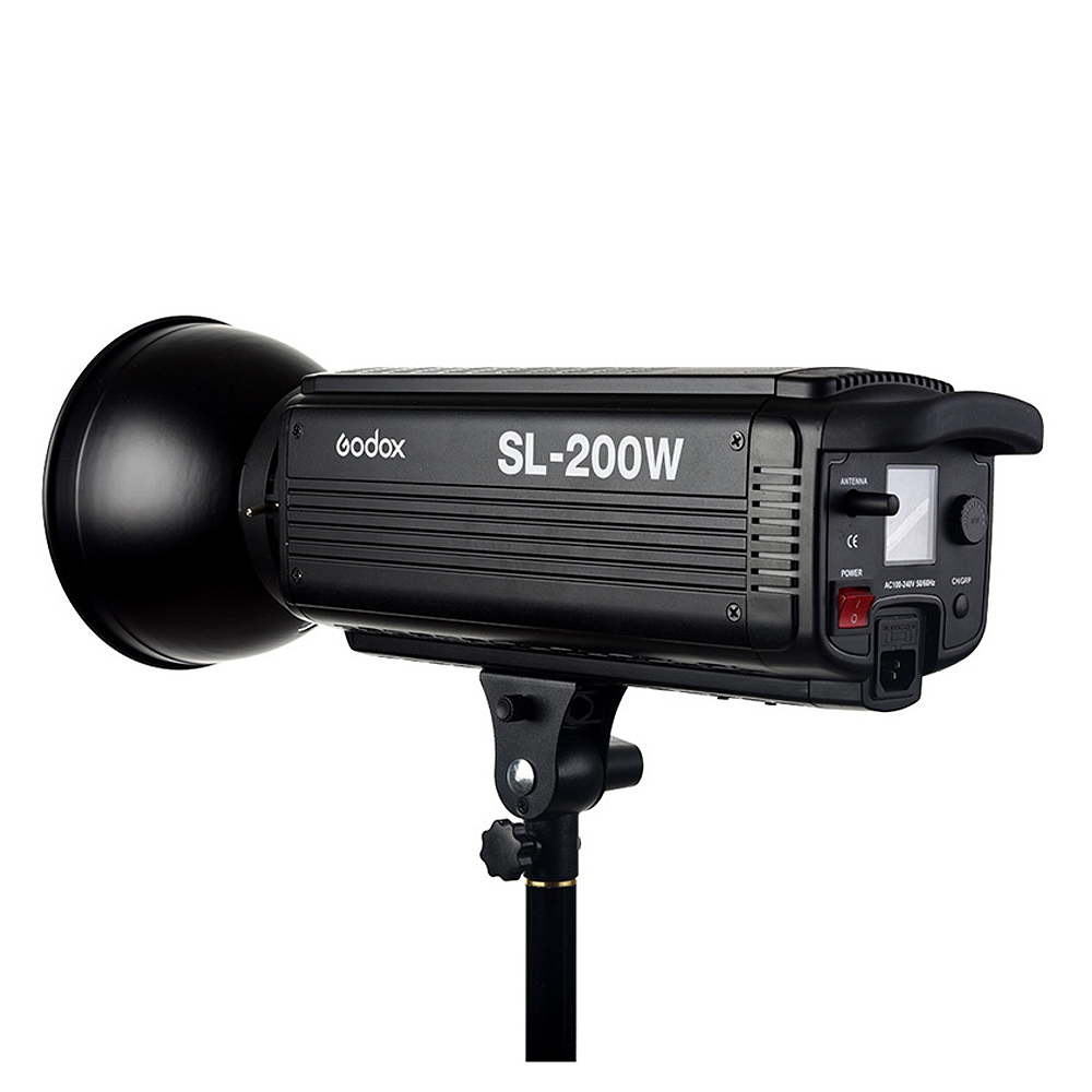 Godox SL-200W 200Ws 5600 К ЖК-дисплей Панель белый светодио дный видео непрерывное Выход Bowens фотостудия лампы освещения