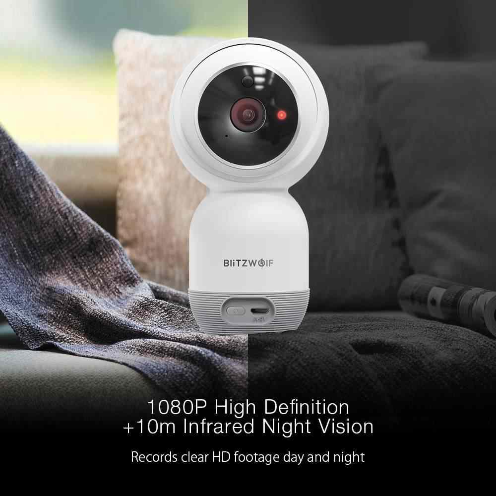 Blitzwolf BW-SHC1 1080P WiFi IP kamera do montażu na ścianie PTZ inteligentnego domu kryty monitor bezpieczeństwa ue wsparcie karty SD w chmurze do przechowywania