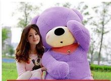biggest plush purple teddy bear toy huge sleeping bear toy stuffed big teddy bear gift 200cm