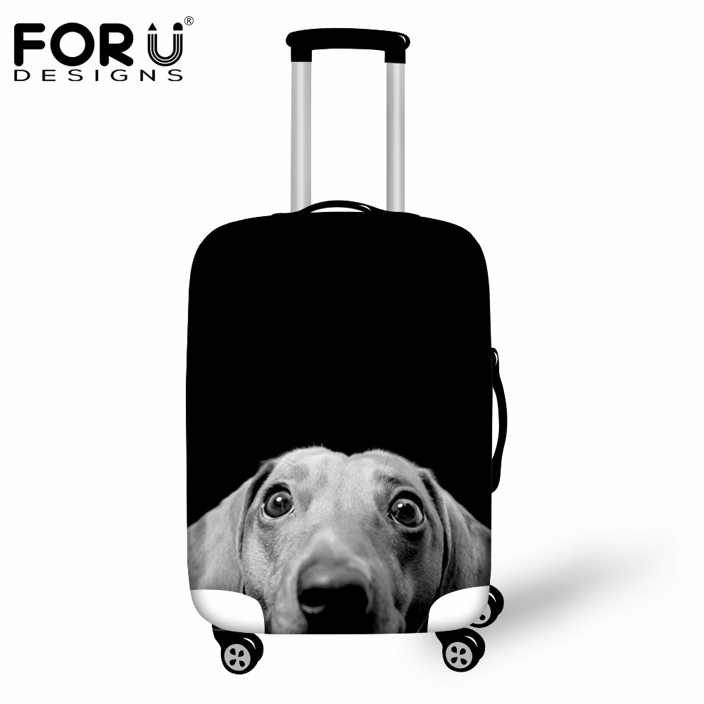 Camouflage Cool Dog Traveler Lightweight Rotating Luggage Protector Case Can Carry With You Can Expand Travel Bag Trolley Rolling Luggage Protector Case