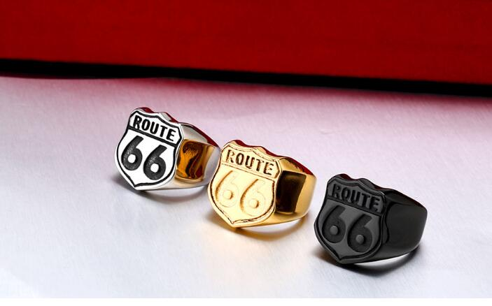 Meecharm 2019 number 6 shape trendy female male made of steel metal Beauty and jewelry gift female gift hotsale rings