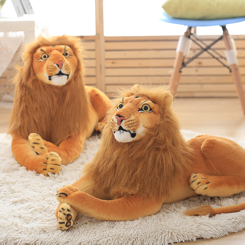 3D simulation plush toys stuffed animal doll lion toys huggable kids toy Christmas birthday gift for children home decor in Stuffed Plush Animals from Toys Hobbies