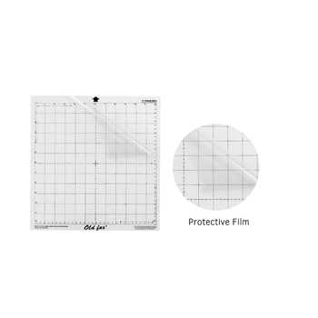 5pcs Replacement Cutting Mat Transparent Adhesive Mat with Measuring Grid 12 * 12 Inch for Silhouette Cameo Plotter Machine