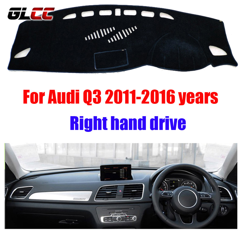 Car dashboard cover mat for Audi Q3 2011-2016 years Right hand drive dashmat pad dash covers auto dashboard accessories brand new car dashboard cover for audi tt dash cover mat right hand driver