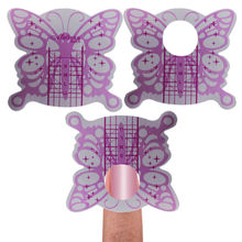 100pcs Pro Self-adhesive Butterfly Nail Form Nail Art Guide Extension Sticker Tip For Acrylic UV Gel Nail Manicure Forms Holder