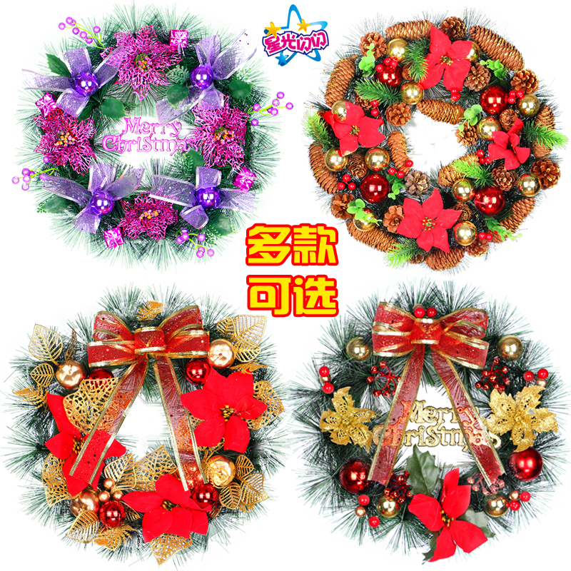 Hot SaleChristmas Deer Cloth Art Wreath Rattan Reed Wreath Garland 30CM Christmas Decoration Ornaments Party Supplies Home Decor