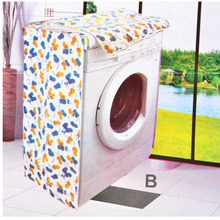 Waterproof Durable Washing Machine Covers Zippered Dust Cover Case Sunscreen Enclosures Floral Flower Pattern Thicker W20
