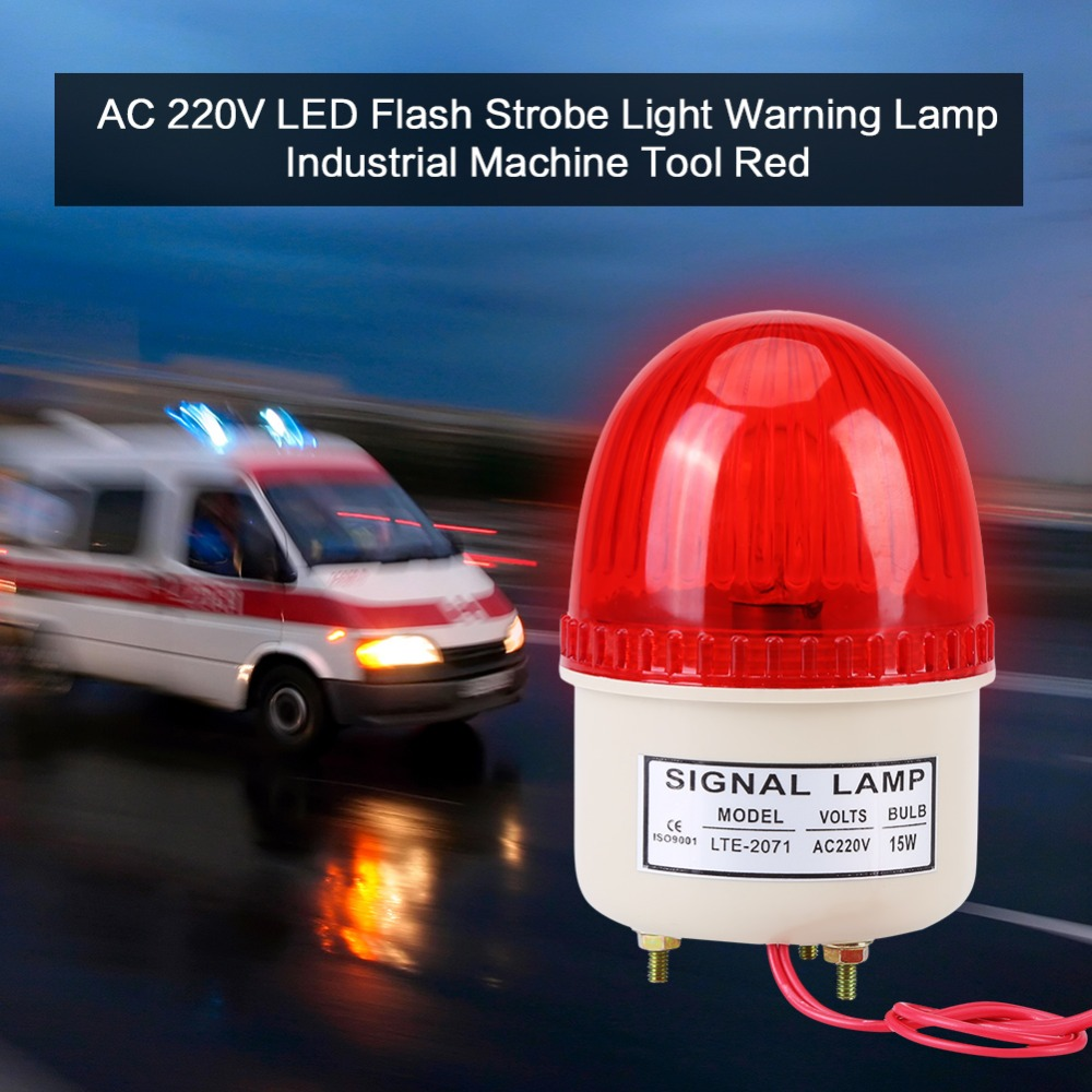 AC 220V 15W LED Flash Strobe Light Warning Lamp Industrial Machine Tool Red Green Blue Yellow new red yellow green light lamp 22 mm led pilot display panel ac 220 v 3 pcs