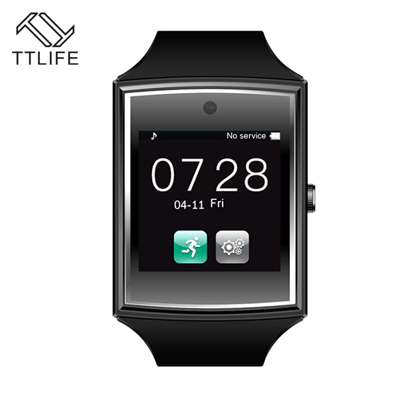 TTLIFE Bluetooth Smart Watch Waterproof Smartwatch Sport Watch Support NFC SIM Card Camera Wrist Watch For Samsung Android Phone gt08 1 54 mtk6260a nfc bluetooth watch hd tft smart wrist strap