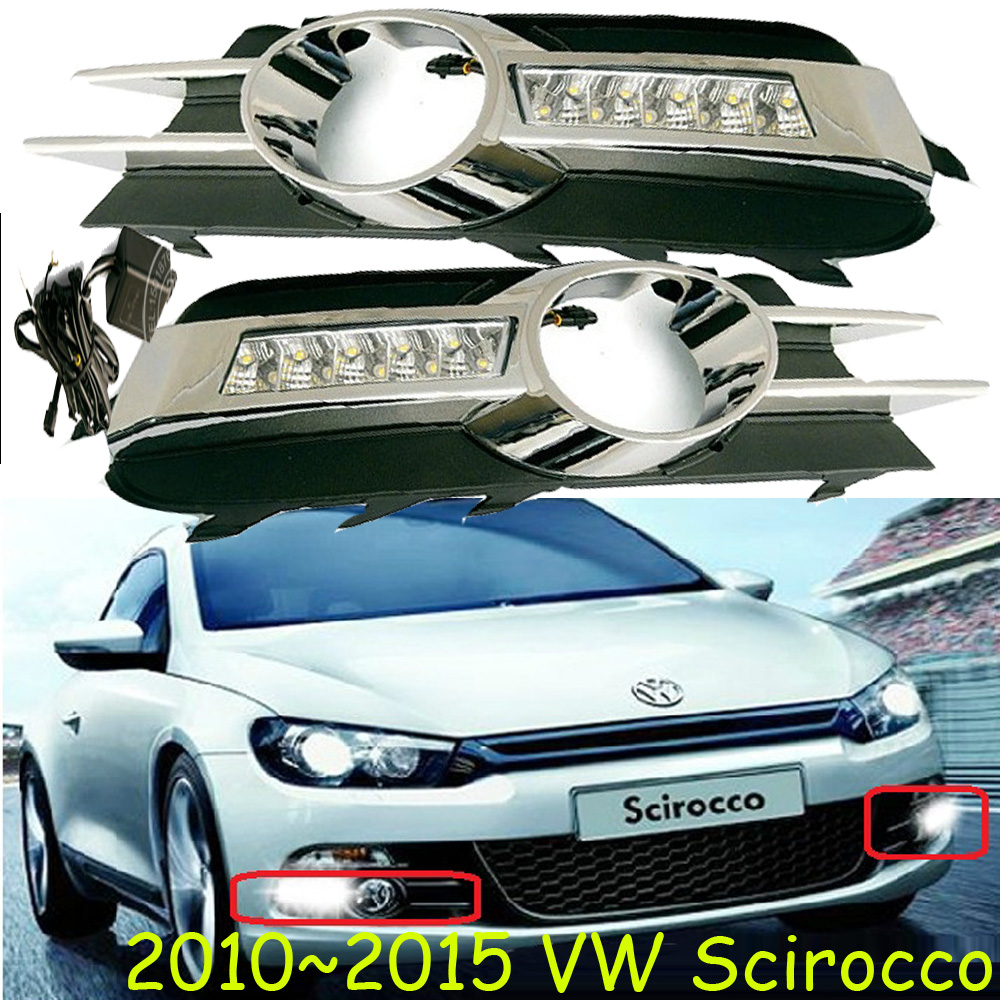 Car-styling,Scirocco daytime light,2011~2015,chrome,LED,Free ship!2pcs,Scirocco fog light,car-covers,Scirocco car styling polo daytime light 2005 2009 2011 2013 chrome led free ship 2pcs polo fog light car covers polo