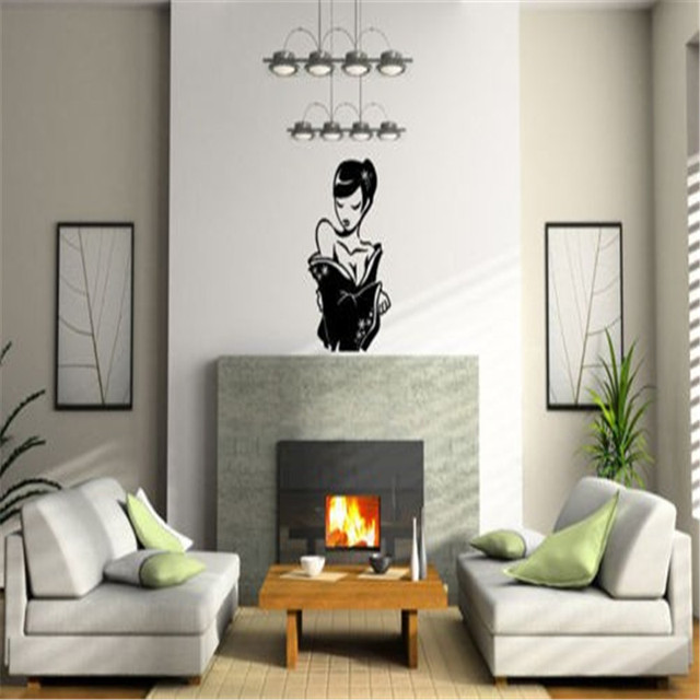 Japanese Geisha Hot Sexy Girl Woman Design Art Vinyl Wall Sticker - Japanese wall decals